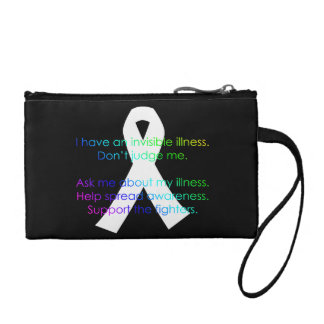 Invisible Illness Facts - twosided wristlet