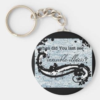 invisible illness keychain