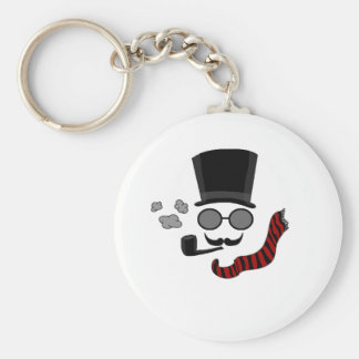 Invisible man basic round button key ring