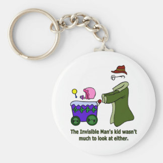 Invisible Man's Kid Wasn't Much To Look At Basic Round Button Key Ring