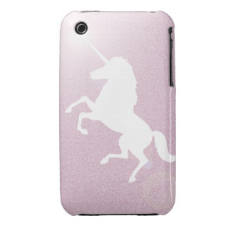 Invisible Pink Unicorn - Glitter Case-Mate iPhone 3 Case