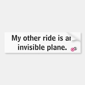 Invisible Plane Bumper Sticker