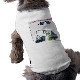 Invisible Selfie Funny Dog Tee Shirt