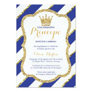 Invitación de Baby Shower para un príncipe Card