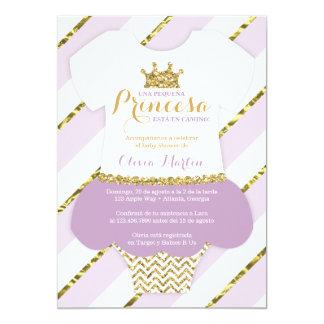 Invitación de Baby Shower para una Princes Card