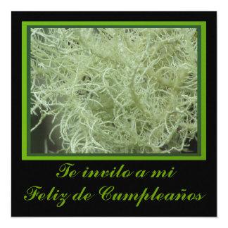 """Invitación - Feliz Cumpleaños - Green 5.25"""" Square Invitation Card"""