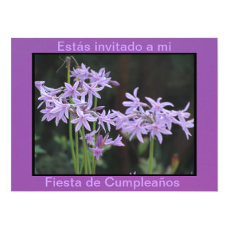 Invitación - Fiesta Cumpleaños - Púrpura 6.5x8.75 Paper Invitation Card