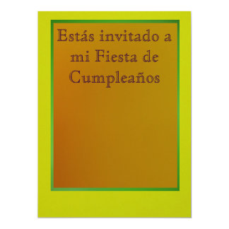 Invitación - Fiesta de Cumpleaños 17 Cm X 22 Cm Invitation Card