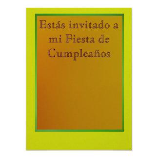 Invitación - Fiesta de Cumpleaños Custom Invitation
