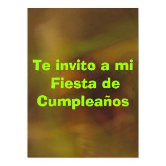 Invitación - Fiesta de Cumpleaños 6.5x8.75 Paper Invitation Card