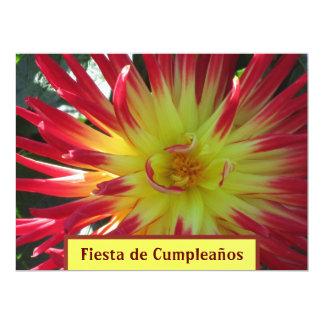Invitación - Fiesta de Cumpleaños - La Dalia 17 Cm X 22 Cm Invitation Card