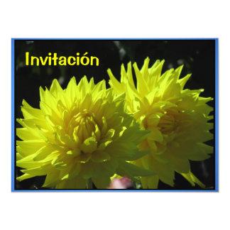 Invitación - Fiesta de Cumpleaños - Las Dalias 17 Cm X 22 Cm Invitation Card