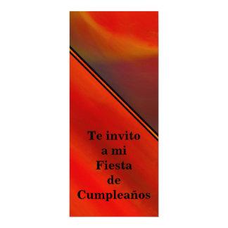 Invitación - Fiesta de Cumpleaños - Naranja 4x9.25 Paper Invitation Card