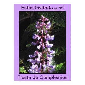 Invitación - Fiesta de Cumpleaños - Púrpura 17 Cm X 22 Cm Invitation Card