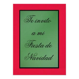 Invitación - Fiesta de Navidad - Colors of México 17 Cm X 22 Cm Invitation Card