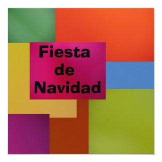 Invitación - Fiesta de Navidad 5.25x5.25 Square Paper Invitation Card