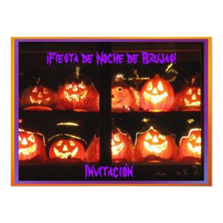 Invitación - ¡Fiesta de Noche de Brujas! 6.5x8.75 Paper Invitation Card