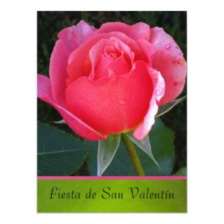 Invitación - Fiesta de San Valentín - Rosa rosa 6.5x8.75 Paper Invitation Card
