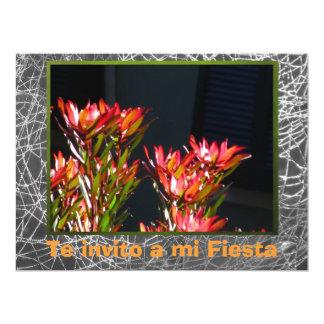 Invitación - Fiesta - Flores naranjas 17 Cm X 22 Cm Invitation Card