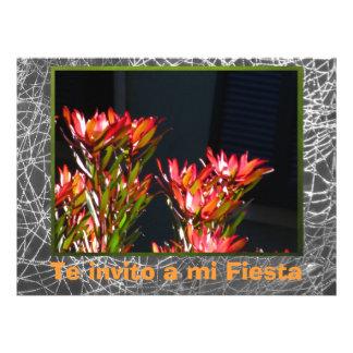 Invitación - Fiesta - Flores naranjas Personalized Invitations