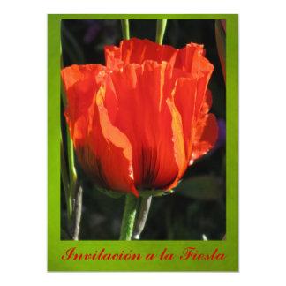Invitación - Fiesta - Naranja y Verde 6.5x8.75 Paper Invitation Card