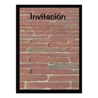 Invitación - Ladrillo Rojo Personalized Invite