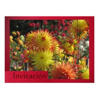 Invitación - Las Dalias - Amarilla y Roja Personalized Invites