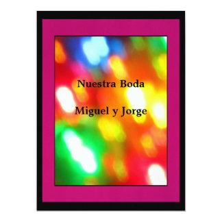 Invitación - Nuestra Boda - Multicolor 17 Cm X 22 Cm Invitation Card