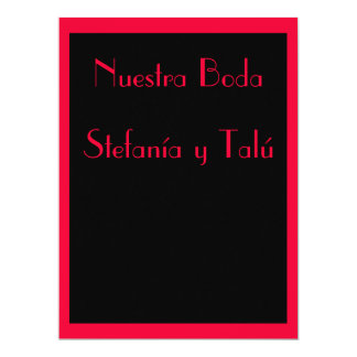 Invitación - Nuestra Boda - Negra y roja Personalized Invite