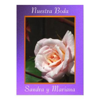 Invitación - Nuestra Boda - Púrpura y naranja Invite