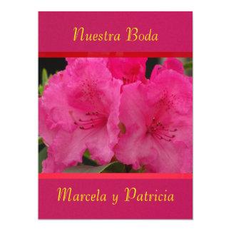 Invitación - Nuestra Boda - Púrpura y roja Announcement