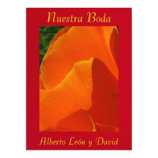 Invitación - Nuestra Boda - Roja y Naranja 17 Cm X 22 Cm Invitation Card