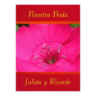 Invitación - Nuestra Boda - Roja y Naranja Announcement