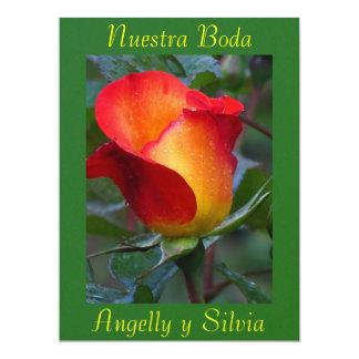 Invitación - Nuestra Boda - Roja y Verde 17 Cm X 22 Cm Invitation Card