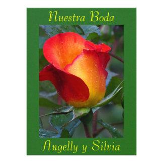Invitación - Nuestra Boda - Roja y Verde Invitation