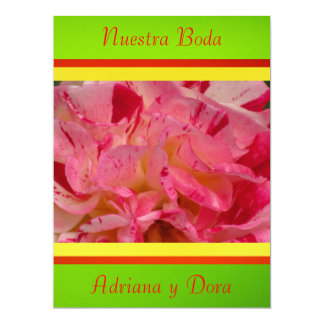 Invitación - Nuestra Boda - Roja y verde 6.5x8.75 Paper Invitation Card