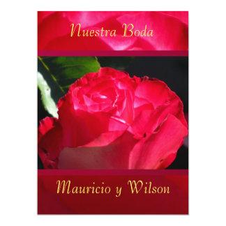 Invitación - Nuestra Boda - Rosa roja Personalized Invite