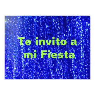 Invitación -Te invito a mi Fiesta - Azul 17 Cm X 22 Cm Invitation Card