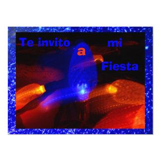 Invitación - Te invito a mi Fiesta - Azul 17 Cm X 22 Cm Invitation Card