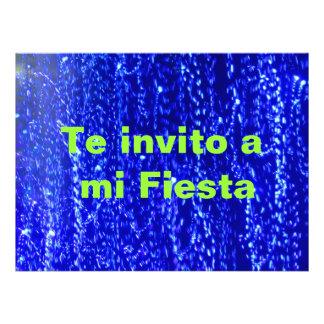 Invitación -Te invito a mi Fiesta - Azul Invitation
