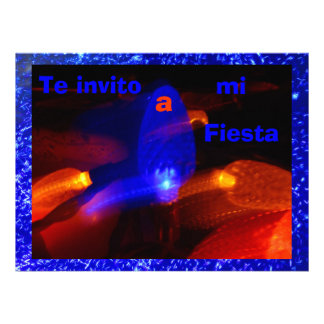 Invitación - Te invito a mi Fiesta - Azul Invitation