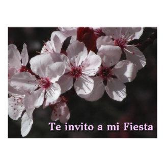 Invitación -Te invito a mi Fiesta - Flores Cerezo Custom Announcements