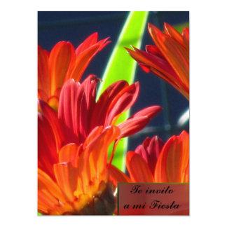 Invitación -Te invito a mi Fiesta - Margaritas 17 Cm X 22 Cm Invitation Card