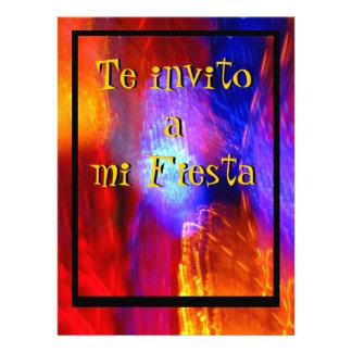 Invitación - Te invito a mi Fiesta - Multicolor Personalized Invitations