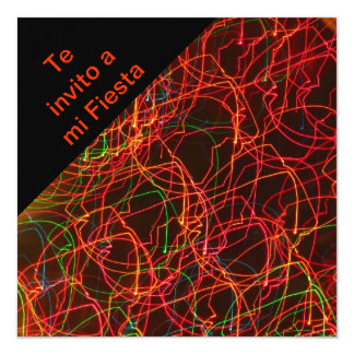 Invitación -Te invito a mi Fiesta - Multicolor 5.25x5.25 Square Paper Invitation Card