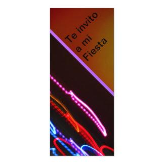 Invitación -Te invito a mi Fiesta - Multicolor 4x9.25 Paper Invitation Card