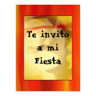 Invitación - Te invito a mi Fiesta - Naranja 6.5x8.75 Paper Invitation Card