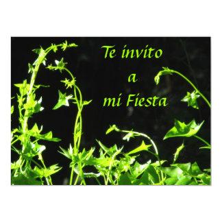 Invitación - Te invito a mi Fiesta - Verde 17 Cm X 22 Cm Invitation Card