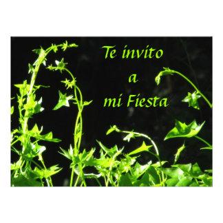 Invitación - Te invito a mi Fiesta - Verde Personalized Invites