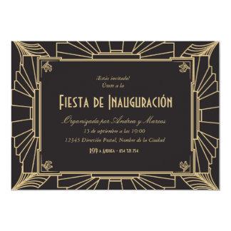 Invitación temática de 1920 fiesta de inauguración 13 cm x 18 cm invitation card